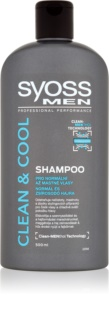 Syoss Men Clean & Cool champô para cabelo normal a oleoso