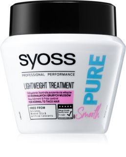 Syoss Pure Smooth maschera nutriente per capelli lisci e luminosi