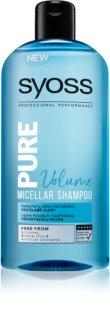 Syoss Pure Volume micelarni šampon za volumen za slabu kosu