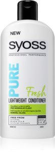 Syoss Pure Fresh condicionador refrescante para cabelo normal