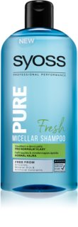 Syoss Pure Fresh Refreshing Micellar Shampoo for Normal Hair