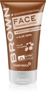 Tannymaxx Brown Face creme de bronzeamento para solário prolongador de bronzeado