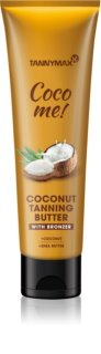 Tannymaxx Coco Me! Coconut tělové máslo s bronzerem na prodloužení délky opálení