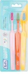 TePe Colour Soft escovas de dentes 3 unidades