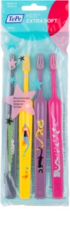 TePe Kids Extra Soft Toothbrushes for Kids, 4pcs