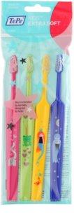 TePe Kids brosses à dents pour enfant extra soft 4 pièces