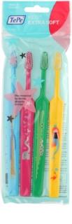 TePe Kids szczoteczki do zębów dla dzieci Extrasoft 4 sztuki