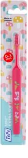 TePe Mini Illustration spazzolino da denti per bambini con testina piccola ristretta extra soft