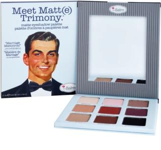 theBalm Meet Matte(e) Trimony paleta de sombras de ojos con un espejo pequeño