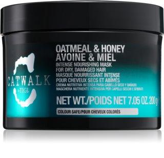 TIGI Catwalk Oatmeal & Honey maschera nutriente intensa per capelli rovinati e secchi