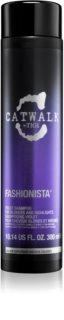 TIGI Catwalk Fashionista champô violeta para cabelo loiro e com madeixas