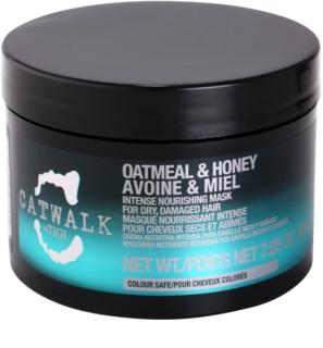TIGI Catwalk Oatmeal & Honey máscara intansiva nutritiva para cabelo seco a danificado