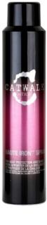 TIGI Catwalk Sleek Mystique spray  a hajformázáshoz, melyhez magas hőfokot használunk