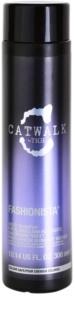 TIGI Catwalk Fashionista fialový šampon pro blond a melírované vlasy