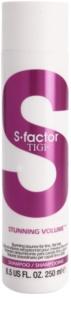 TIGI S-Factor Stunning Volume šampon pro jemné a zplihlé vlasy