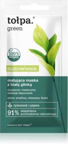 Tołpa Green Matt Lermask  För por-minimerare och hud som ser matt ut