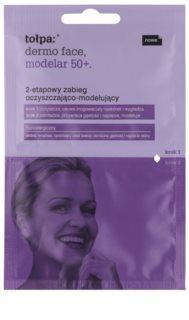 Tołpa Dermo Face Modelar 50+ čistenie a remodelácia tváre v dvoch krokoch