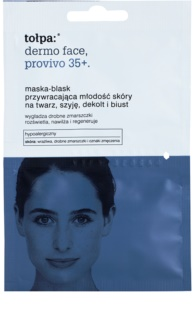 Tołpa Dermo Face Provivo 35+ omladzujúca maska na tvár, krk, dekolt i poprsie