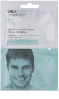 Tołpa Dermo Men Pure hĺbkovo čistiaca maska pre matný vzhľad pleti