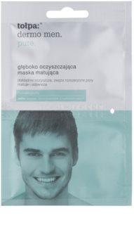 Tołpa Dermo Men Pure матуюча очищуюча маска  глибокої дії