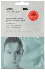 Tołpa Dermo Face Sebio normalizujúca hĺbkovo čistiaca maska pre pleť s nedokonalosťami