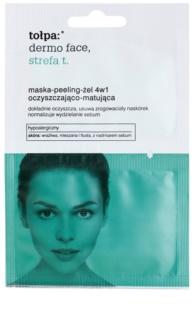 Tołpa Dermo Face T-Zone Peeling-Gel-Maske 4 in 1 für fettige Haut mit Neigung zu Akne
