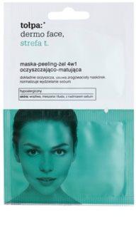 Tołpa Dermo Face T-Zone maszk-peeling-gél 4 az 1-ben az aknéra hajlamos zsíros bőrre
