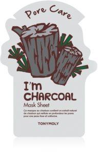 TONYMOLY I'm CHARCOAL masque tissu pour lisser la peau et réduire les pores