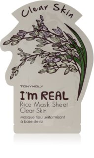 TONYMOLY I'm REAL Rice verhelderende sheet mask