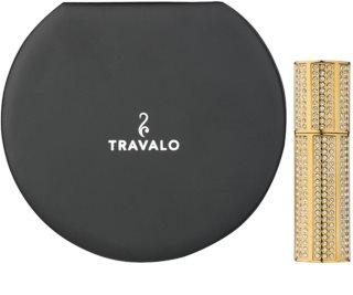 Travalo Divine szórófejes parfüm utántöltő palack unisex 5 ml Swarovski kristállyal Gold