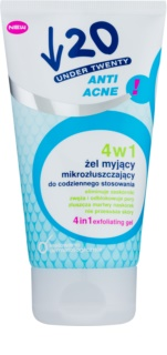 Under Twenty ANTI! ACNE čisticí gel, peeling a pleťová maska 3 v 1