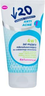 Under Twenty ANTI! ACNE gel, exfoliante y mascarilla facial purificantes 3 en 1
