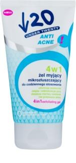 Under Twenty ANTI! ACNE čistiaci gél, peeling a pleťová maska 3v1