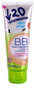 Under Twenty ANTI! ACNE mattierende BB Creme mit antibakterieller Wirkung SPF 10