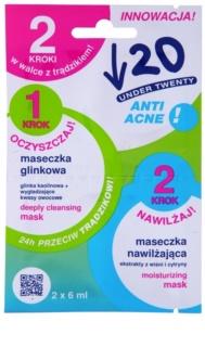 Under Twenty ANTI! ACNE čistiaca a hydratačná maska pre problematickú pleť, akné