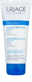 Uriage Bariéderm Cica успокояващ почистващ гел за напукана кожа