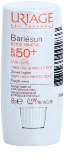 Uriage Bariésun stick mineral protetor para as áreas sensíveis SPF 50+