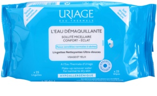 Uriage Hygiene lingettes démaquillantes pour peaux normales et sèches