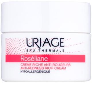 Uriage Roséliane crema giorno nutriente per pelli sensibili con tendenza all'arrossamento