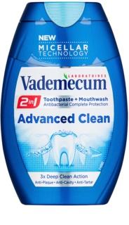 Vademecum Advanced Clean Pro Micellar Technology zobna pasta in ustna voda 2v1 za popolno zaščito zob