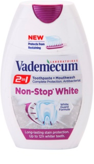 Vademecum 2 in1 Non-Stop White паста за зъби + вода за уста в едно