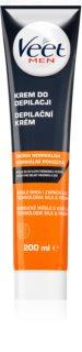 Veet Men Silk & Fresh crème dépilatoire hydratante pour peaux normales