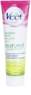 Veet Natural Inspirations crema depilatoria para pieles sensibles