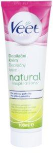 Veet Natural Inspirations creme depilatório para pele sensível