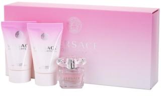 Versace Bright Crystal ajándékszett teszter nőknek 3 db