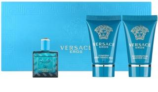 Versace Eros подаръчен комплект тестер за мъже 3 бр.