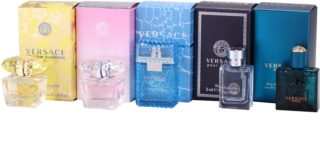 Versace Miniatures Collection set cadou IV. Yellow Diamond + Bright Crystal + Man + Pour Homme + Eros