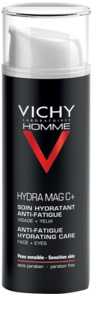 Vichy Homme Hydra-Mag C зволожуючий догляд проти ознак втоми для обличчя та шкіри навколо очей
