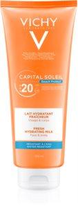 Vichy Capital Soleil Beach Protect zaštitno hidratantno mlijeko za lice i tijelo SPF 20