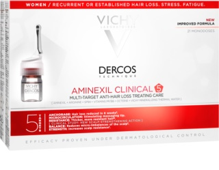 Vichy Dercos Aminexil Clinical 5 tratamento local para a queda de cabelo para mulheres